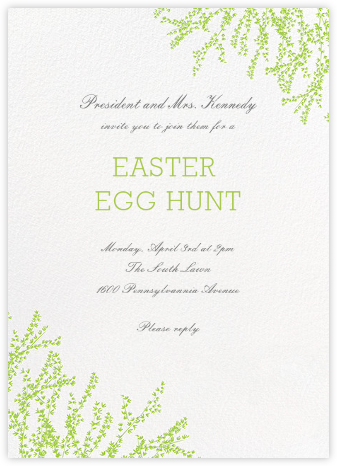 Forsythia (Invitation) - Leaf Green - Paperless Post - Easter Invitations