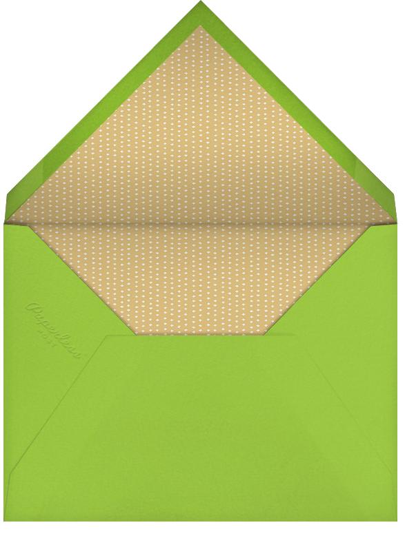 Forsythia (Invitation) - Leaf Green - Paperless Post - Easter - envelope back