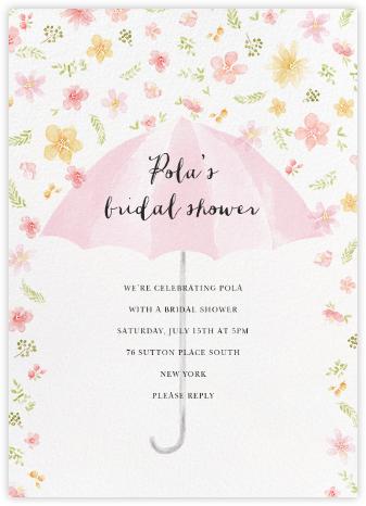 Flower Shower - Pink - Paperless Post - Bridal shower invitations