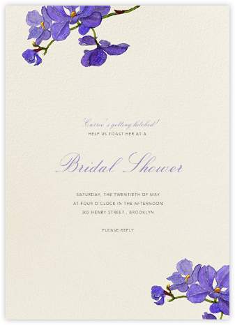 Moth Orchid - Felix Doolittle - Bridal shower invitations