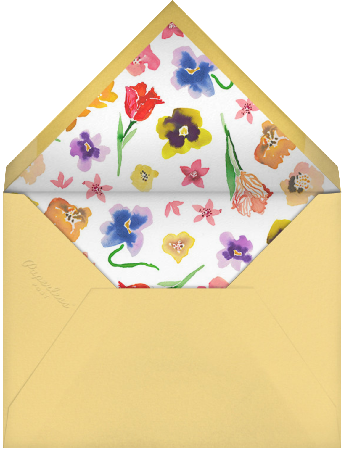 Spring Market - Happy Menocal - Bridal shower - envelope back