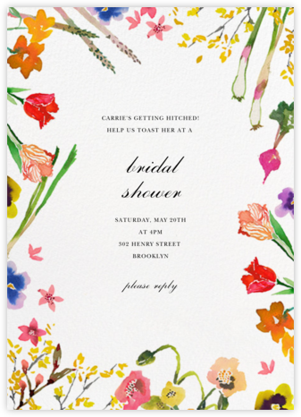 Spring Market - Happy Menocal - Bridal shower invitations