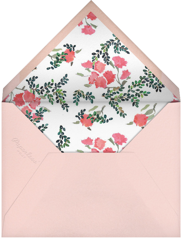Boxwood Hedge - Happy Menocal - Bridal shower - envelope back