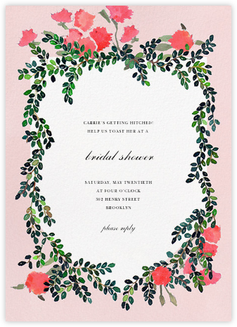 Boxwood Hedge - Happy Menocal - Bridal shower invitations