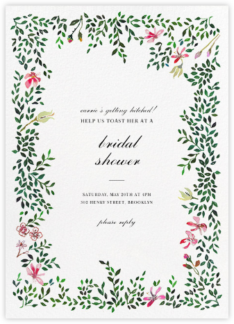 Hedgerow in Bloom - Happy Menocal - Bridal shower invitations