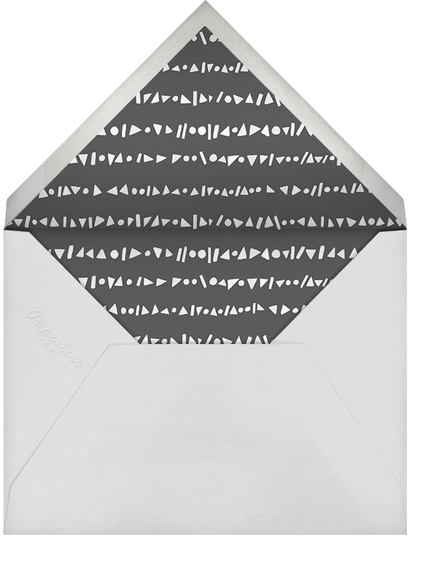 Streamer Shapes (Photo) - Silver - Paperless Post - Adult birthday - envelope back