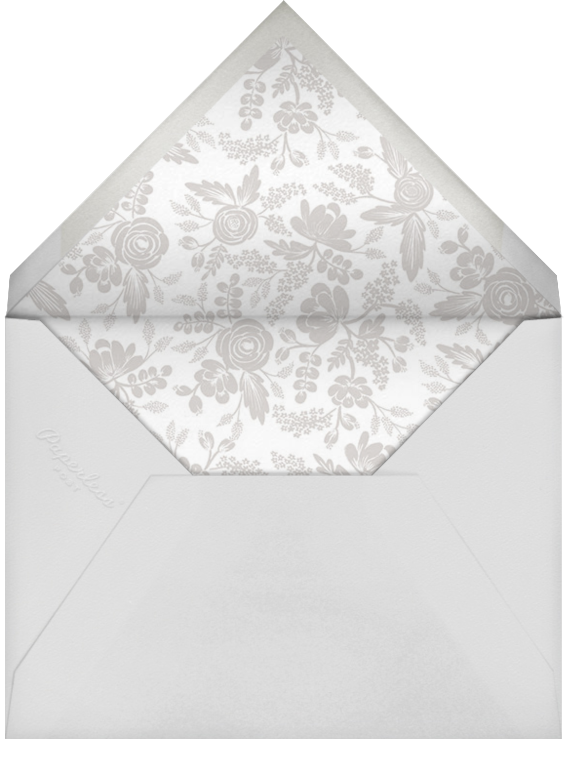 Heather and Lace (Tall Frame) - Gold/Merinuge - Rifle Paper Co. - Bridal shower - envelope back