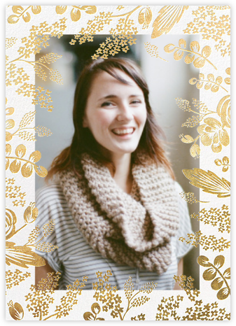 Heather and Lace (Tall Frame) - Gold/Merinuge - Rifle Paper Co. - Bridal shower invitations