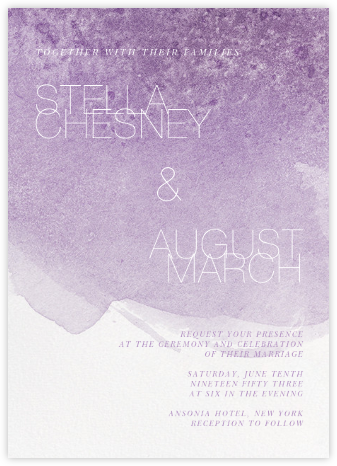 Chalcedony (Invitation) - Lilac - Paperless Post - Modern wedding invitations