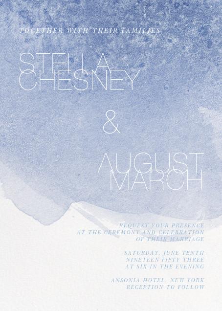 Chalcedony (Invitation) - Spring Rain - Paperless Post - Modern wedding invitations