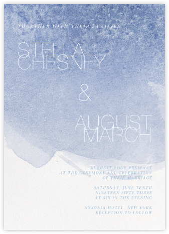 Chalcedony (Invitation) - Spring Rain - Paperless Post - Modern wedding invitations