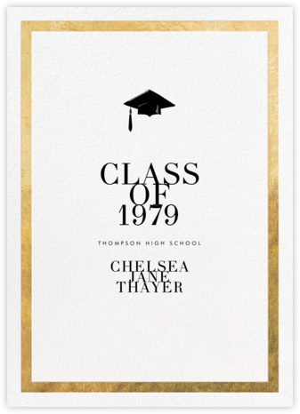 Editorial II - White/Gold - Paperless Post - Graduation announcements
