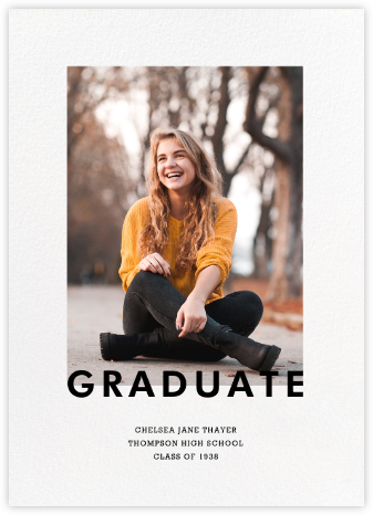 Vertical Overlap - Paperless Post - Graduation Announcements