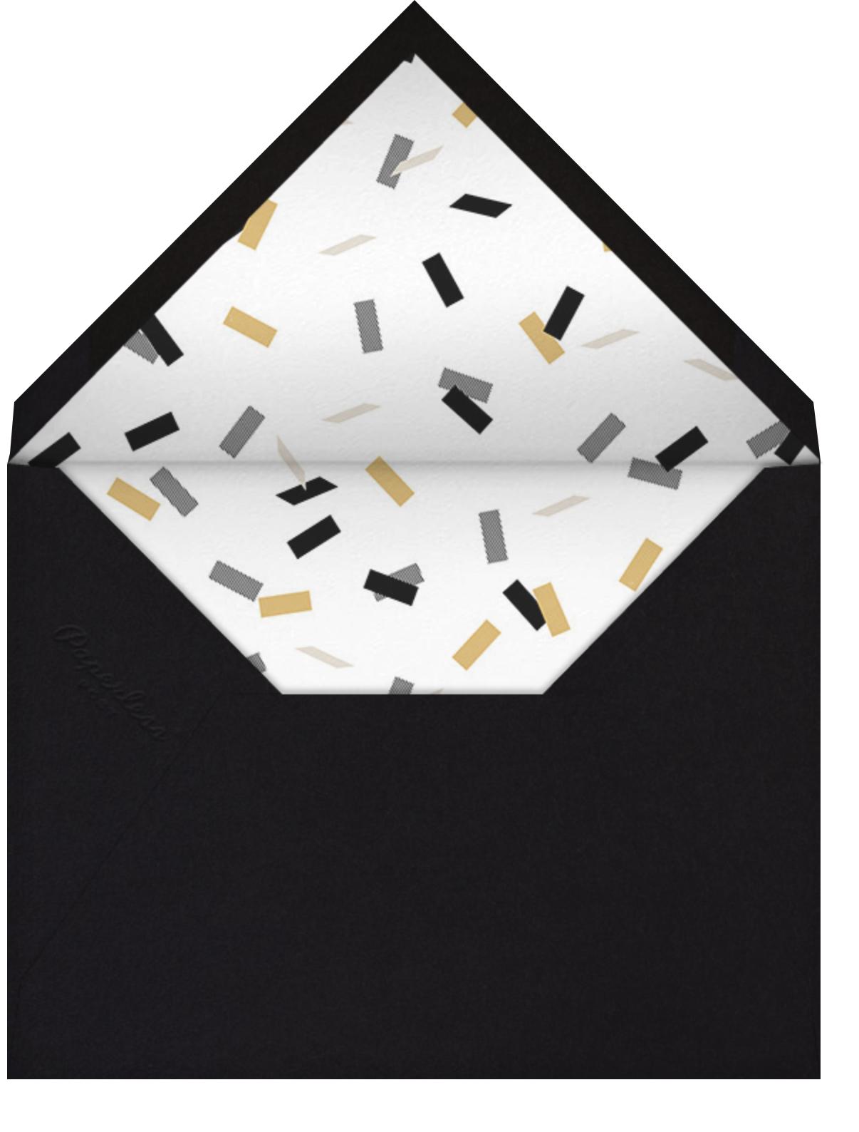 Idylle (Photo) - Gold - Paperless Post - Graduation - envelope back