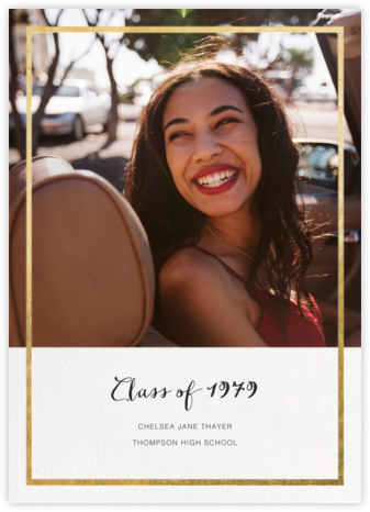 Idylle (Photo) - Gold - Paperless Post - Graduation announcements