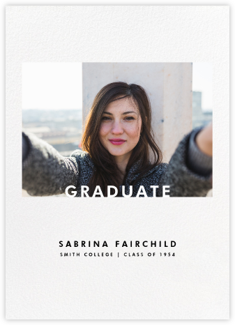 Horizontal Photo on Tall - Paperless Post - Graduation Announcements