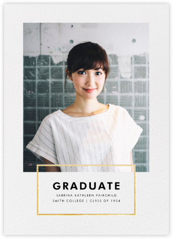 Placard - Gold - Paperless Post - Graduation Announcements