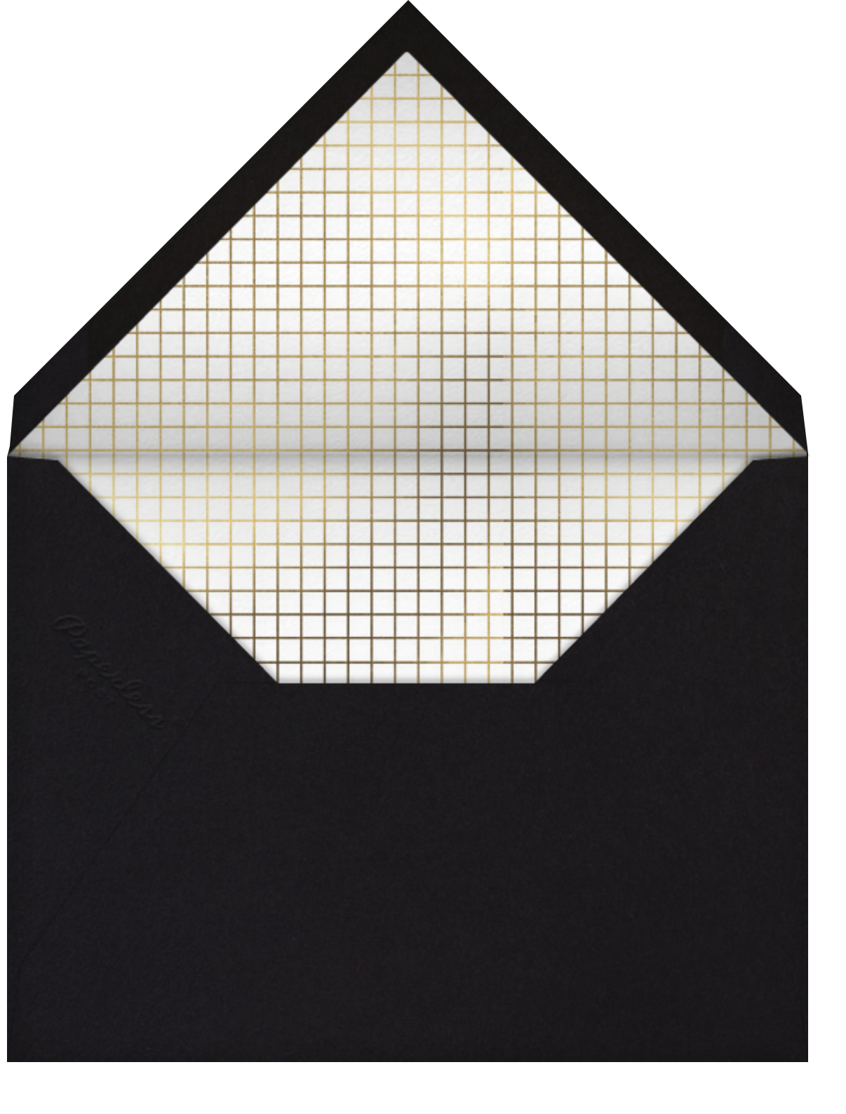 Honeycomb Party - Gold - Paperless Post - Graduation party - envelope back