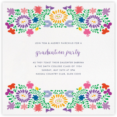 Oaxacan (Square) - White - Paperless Post - Celebration invitations