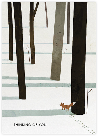 Fox in the Snow (Jon Klassen) - Red Cap Cards -