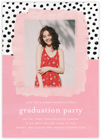 Dotscape - Pink - Ashley G - Online Party Invitations