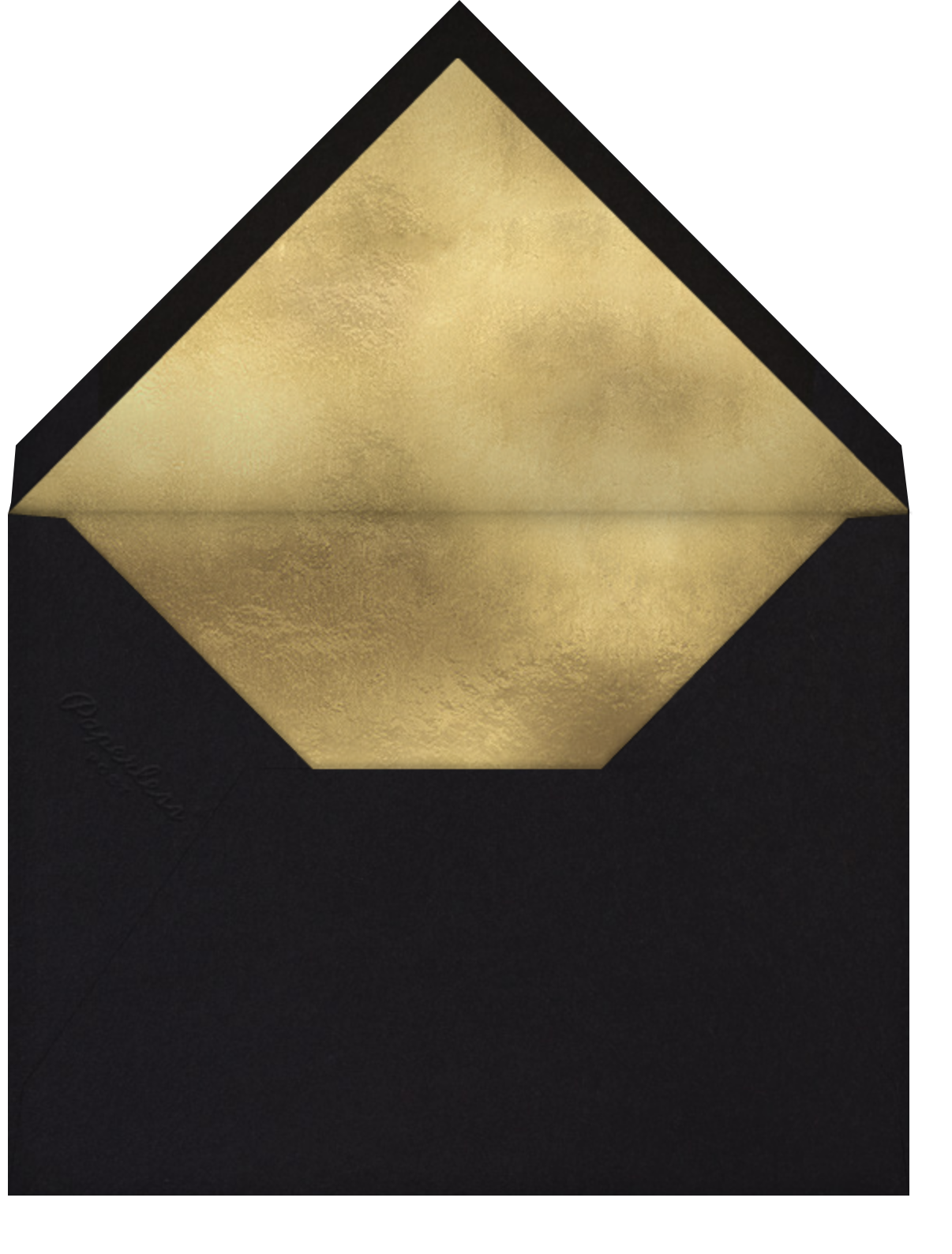 Streamer Shapes (Photo) - White/Gold - Paperless Post - Graduation party - envelope back