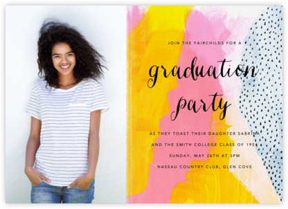 Sundry Strokes (Photo) - Ashley G - Celebration invitations