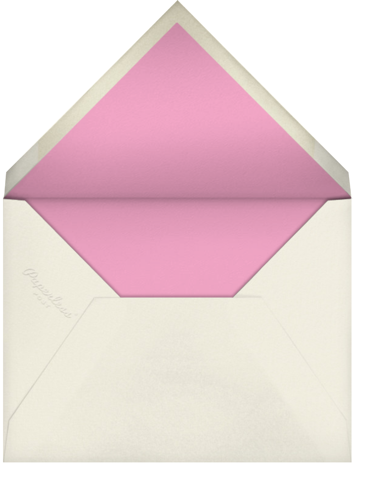 Carnaby (Photo) - Pink - Paperless Post - Graduation party - envelope back