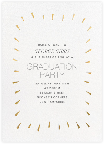 Éclat - White/Gold - Paperless Post - Celebration invitations