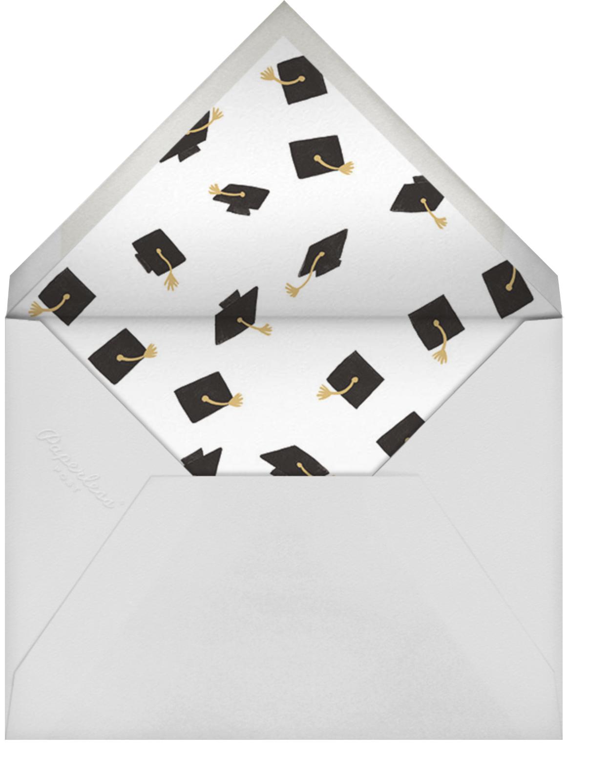 Caps Ahoy - Rifle Paper Co. - Graduation party - envelope back