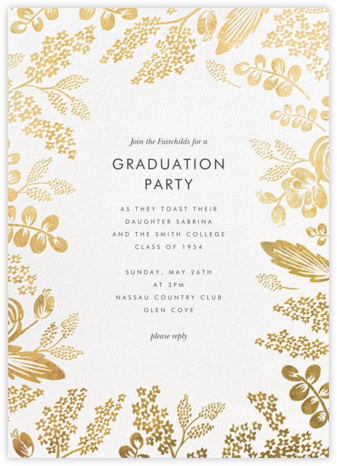 Heather and Lace - Gold - Rifle Paper Co. - Celebration invitations