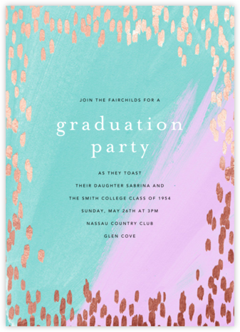 Dappled - Lagoon/Rose Gold - Ashley G - Celebration invitations