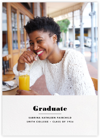 Split Screen - White - Paperless Post - Graduation announcements