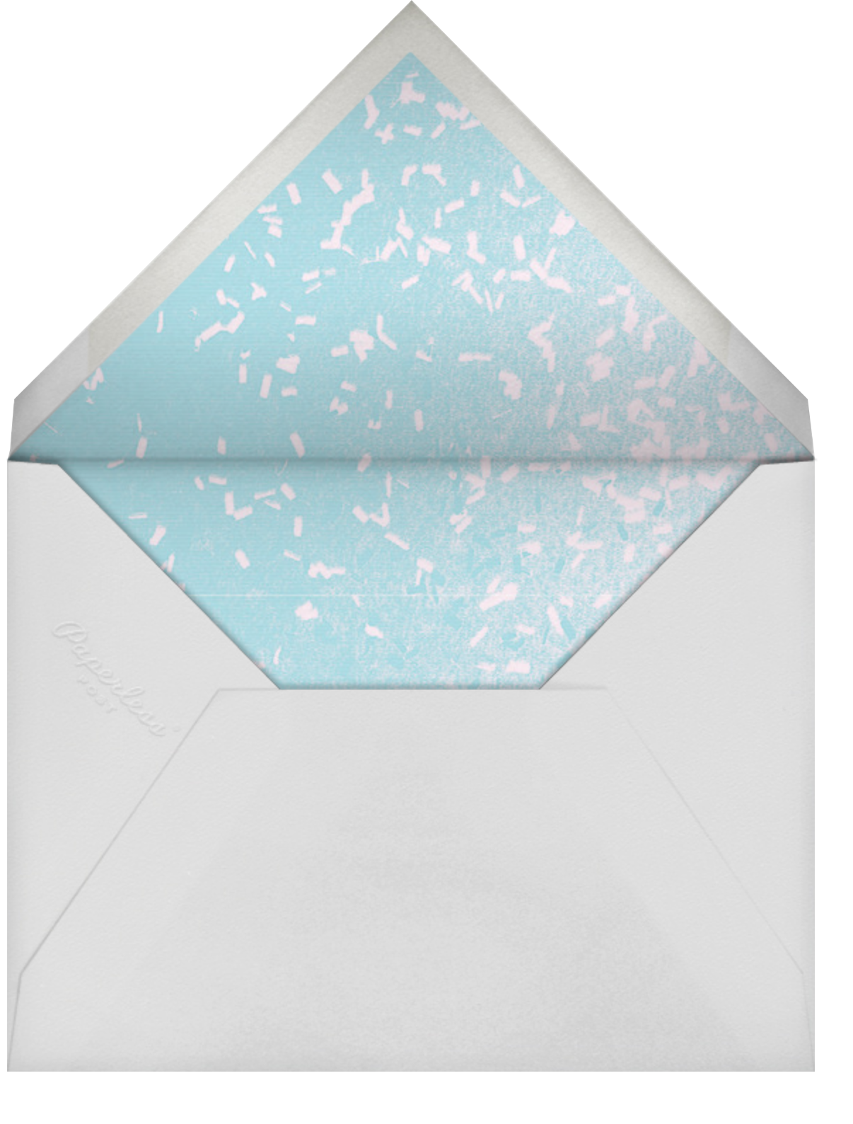 Whitework - Silver - Paperless Post - Graduation party - envelope back
