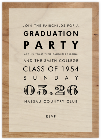 Wood Grain Color Block - White - Paperless Post - Celebration invitations