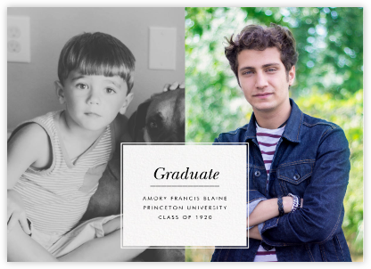 Two of a Kind - Paperless Post - Graduation announcements