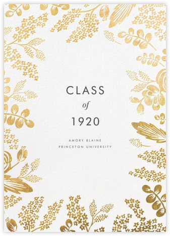 Heather and Lace - Gold - Rifle Paper Co. - Graduation Announcements