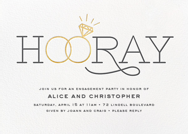 Engagement party invitations online at Paperless Post