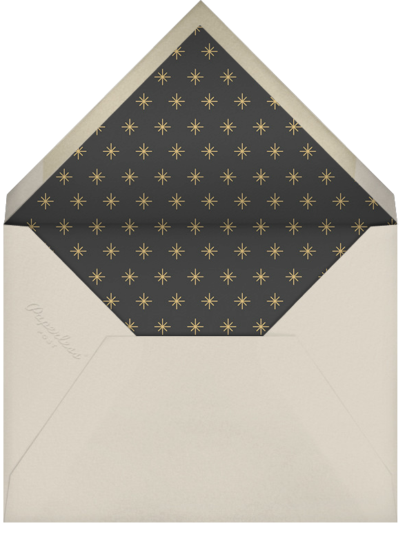 Peas on Earth - Paperless Post - New Year's Eve - envelope back
