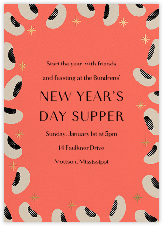 Peas on Earth - Paperless Post - New Year's Eve Invitations