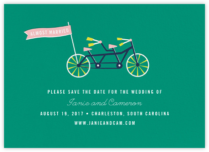 Travelogue - Bike - Cheree Berry Paper & Design - Save the dates