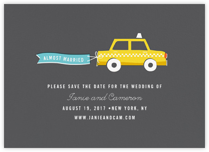 Travelogue - Taxi - Cheree Berry Paper & Design - Save the dates