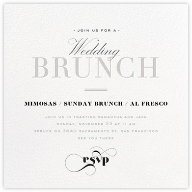 Brunch Soiree - Gray - bluepoolroad - Wedding weekend