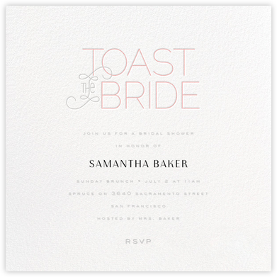 Toast with the Most - Pink - bluepoolroad - Showers and parties