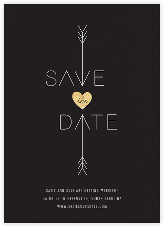 Cupid Was Here - Caviar - Cheree Berry Paper & Design - Save the dates