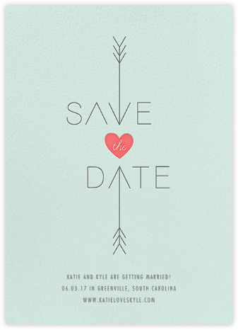 Cupid Was Here - Mint - Cheree Berry - Save the dates
