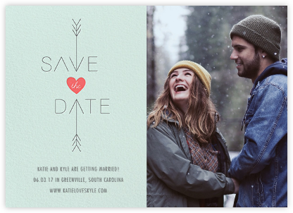 Cupid Was Here (Photo) - Mint - Cheree Berry - Modern save the dates
