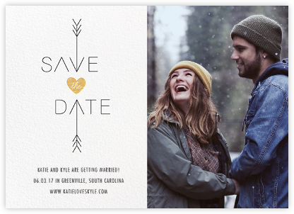 Cupid Was Here (Photo) - White - Cheree Berry - Save the date cards and templates