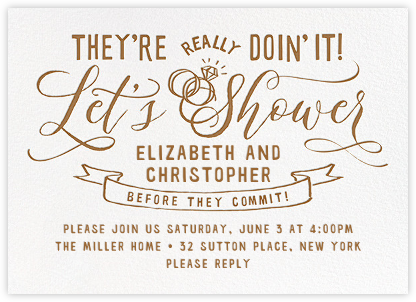 Let's Shower - Cheree Berry - Bridal shower invitations