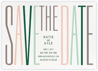 Just My Type - Multi - Cheree Berry Paper & Design - Save the dates